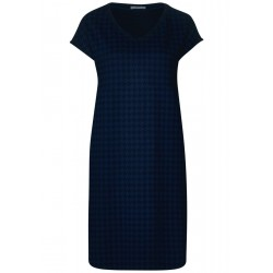 Jersey dress with houndstooth by Cecil