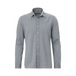Shaped long-sleeve shirt Cosy cotton by Marc O'Polo