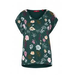 Blouse top with an elasticated hem by s.Oliver Red Label