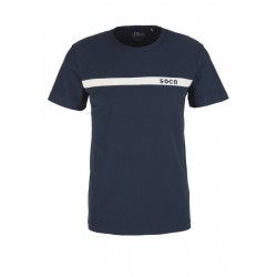 T-shirt with striped tape by s.Oliver Red Label