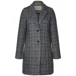 Long wool coat with check by Cecil