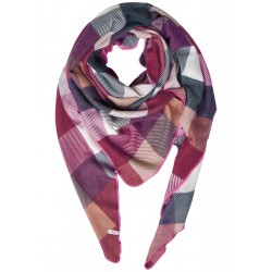 Triangle scarf with check by Cecil