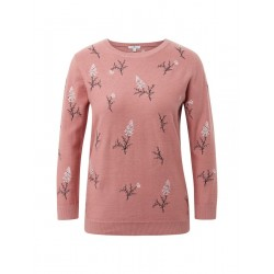 Pullover mit Blumen-Stickerei by Tom Tailor