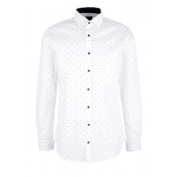 Slim : Chemise business à pois  by s.Oliver Black Label
