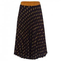 Print plissee skirt by More & More