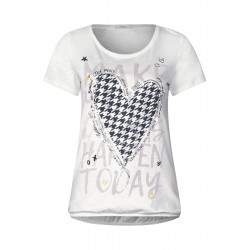 T-shirt with front print by Cecil