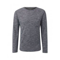Striped long-sleeved shirt with round neckline by Tom Tailor Denim