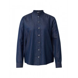 Denim blouse with stand-up collar by Tom Tailor