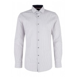 Slim: Striped shirt with accents by s.Oliver Black Label