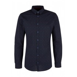 Slim: Patterned business shirt by s.Oliver Black Label