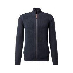 Structured knitted jacket with stand-up collar by Tom Tailor