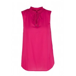 Blouse top with a stand-up collar by s.Oliver Red Label