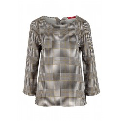 Twill blouse with houndstooth pattern by s.Oliver Red Label