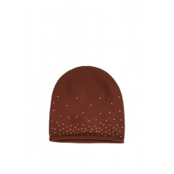 Knit hat with rhinestones by s.Oliver Black Label