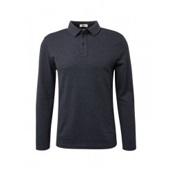 Structured, long-sleeved polo shirt by Tom Tailor