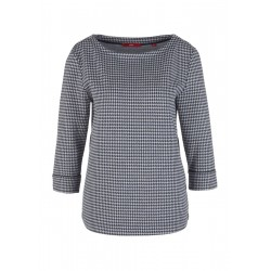 Jacquard sweatshirt with piping by s.Oliver Red Label