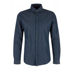 Slim: Twill shirt with shark collar by s.Oliver Black Label