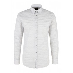 Slim: Stretch shirt with a printed pattern by s.Oliver Black Label