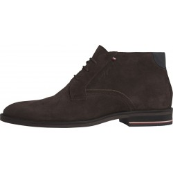 Signature lace-up suede boots by Tommy Hilfiger