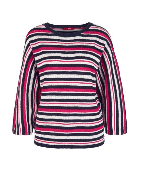Striped jumper with batwing sleeves by s.Oliver Red Label