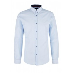 Slim: Business shirt in melange effect by s.Oliver Black Label