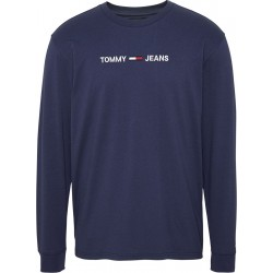Embroidered logo long sleeve T-shirt by Tommy Jeans
