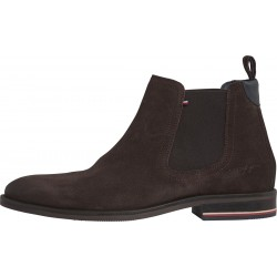 Signature suede chelsea boots by Tommy Hilfiger