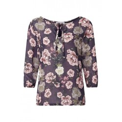 Long-sleeves top with rose print by Rich & Royal