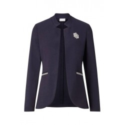 Jersey jacket with rhinestone brooch by Rich & Royal