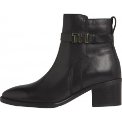 Leather block heel boots by Tommy Hilfiger