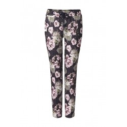 Scuba trousers with floral print by Rich & Royal