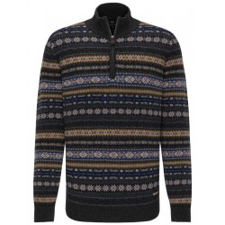 Gemusterter Troyer-Pullover by Fynch Hatton