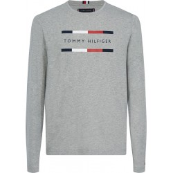 Long sleeve organic cotton logo T-shirt by Tommy Hilfiger
