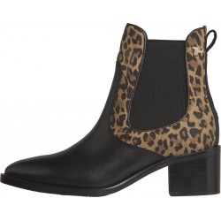 Leopard print block heel Chelsea boots by Tommy Hilfiger