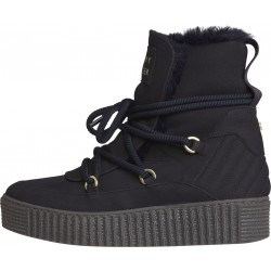 Nubuck lace  up flatform boots by Tommy Hilfiger