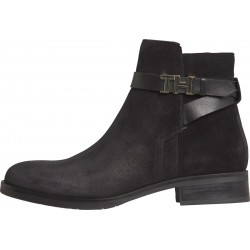 Hardware detail flat suede boots by Tommy Hilfiger