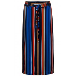Midi skirt with stripes by Street One