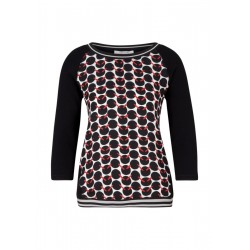 3/4-sleeve top by comma CI