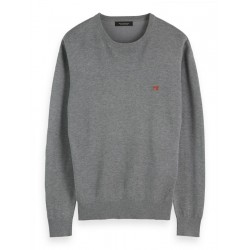 Melierter Basic-Pullover by Scotch & Soda