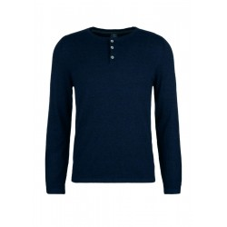 Sweater with short button placket by s.Oliver Red Label