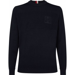 Embroidered monogram jumper by Tommy Hilfiger