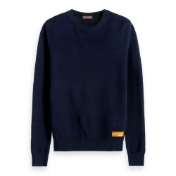 Structured Crew Neck Pullover by Scotch & Soda