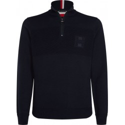 Embroidered half-zip jumper by Tommy Hilfiger