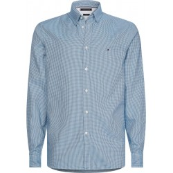 Slim fit textured houndstooth shirt by Tommy Hilfiger