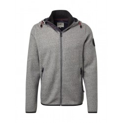 Sweater with logo and zip fastening strip by Tom Tailor