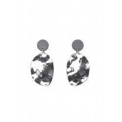 Earrings with embossed plate by s.Oliver Red Label
