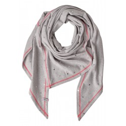 Dotted triangular scarf by Cecil