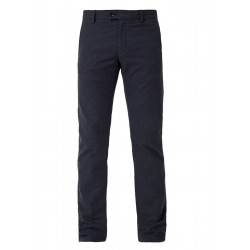 Slim: Chinos with houndstooth pattern by s.Oliver Black Label