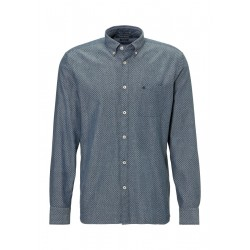 Regular long-sleeve shirt with an all-over patterned print by Marc O'Polo
