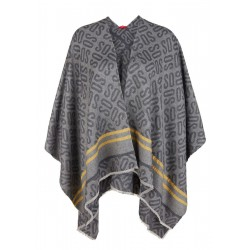 Poncho mit Label-Webmuster by s.Oliver Red Label